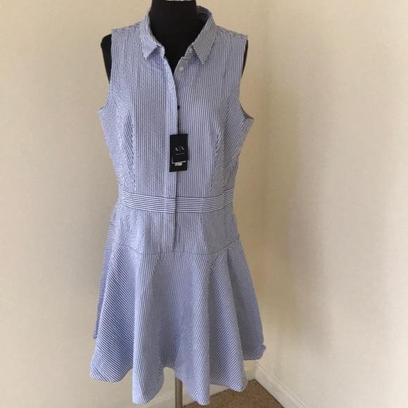 A X Armani Exchange Dresses Nwt Armani Exchange Sz 12 Seersucker
